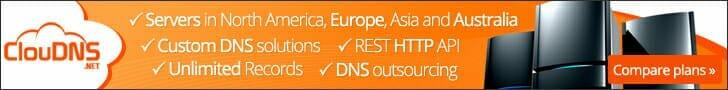Cloudns DNS service